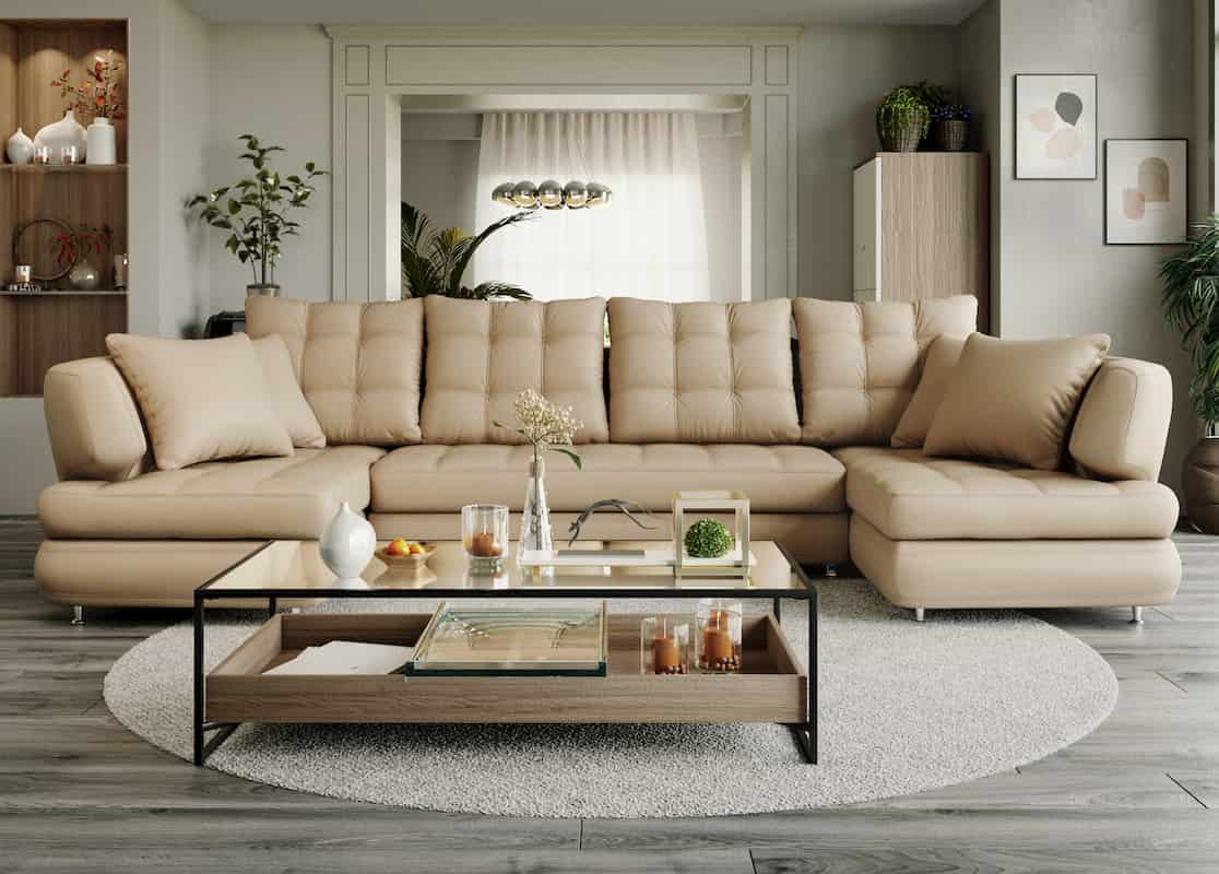 Modular sofa Nicole U-shaped