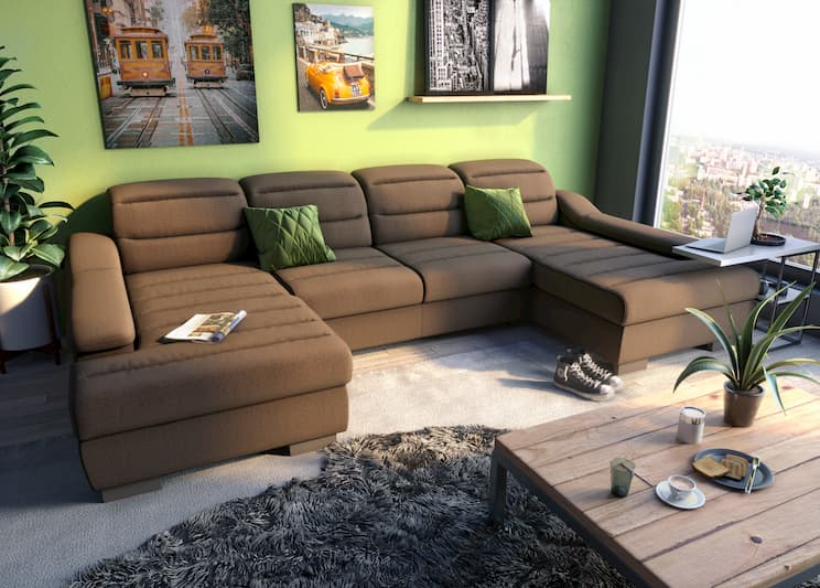Kelly U-shaped  modular sofa